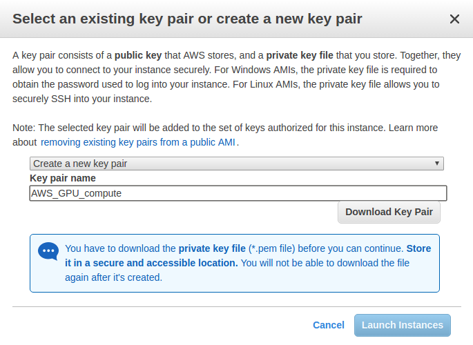 AWS Key Pair